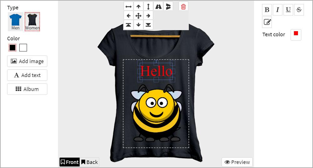 Responsive T-shirt Online Designer - 1